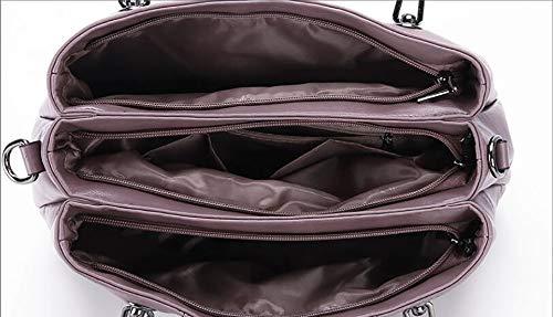 LIGYM La Mode-fourre-Tout en Cuir d'unité Centrale, Sacs à bandoulière, Sacoche, Sacs à bandoulière croisés (PU) purple