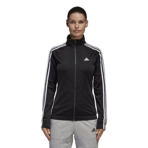 adidas Women's Designed-2-Move Track Jacket, Black/White, Large