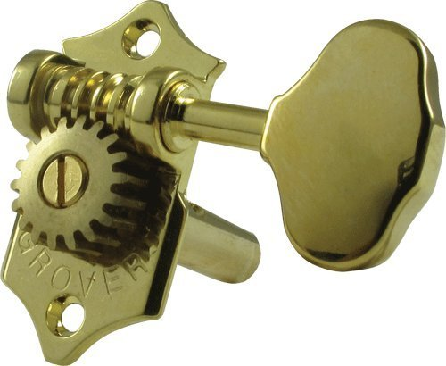 Grover H97-18G Sta-Tite Tuners, 18:1 Gear Ratio, 3-Per-Side, Horizontal, Gold
