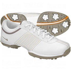 NIKE Delight II Women's Golf Shoe (White/Lt Taupe-Golden Glow) 7