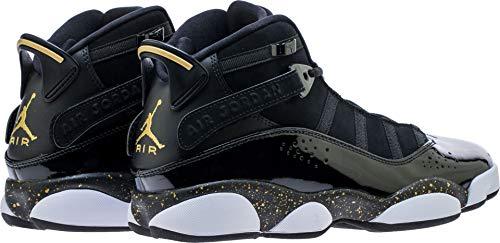half off 846ad db6ac Amazon.com | Nike Jordan 6 Rings Black/Metallic Gold-White ...