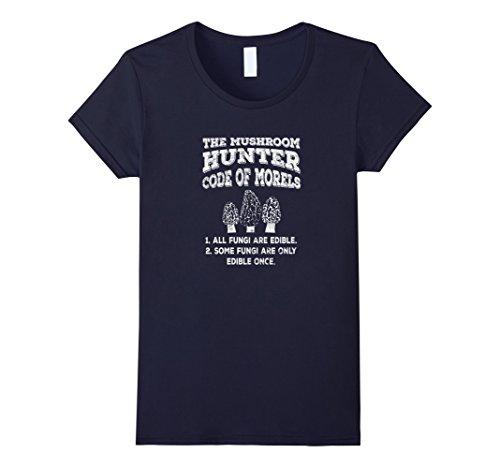Womens Mushroom Hunter Code of Morels - Funny Edible Fung...