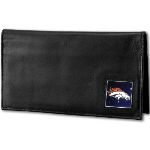 NFL Denver Broncos Deluxe Leather Checkbook Cover by Siskiyou