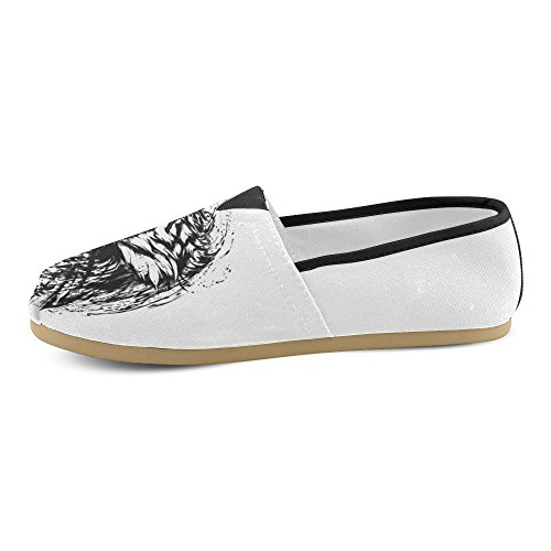 Interestprint Zombie Mocasines Zapatos Casuales Para Hombres Mujeres Tigre