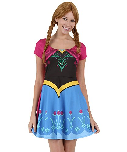 Womens I Am Anna Frozen Skater Dress (Elsa And Anna Dresses For Adults)