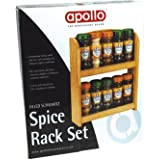 Apollo Filled Schwartz Spice Rack Set including 10 Jars