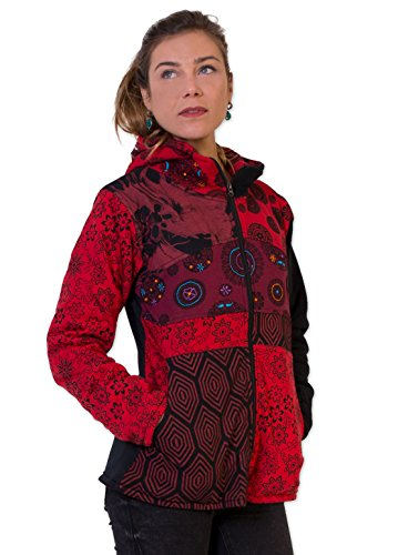 ALVEN Monde Rouge Coton Du Multicolore Veste qtWPHO5H