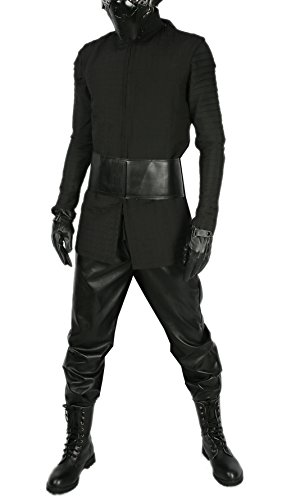Custom Made Halloween Mask (xcoser Kylo Ren Quilted Tunic Last Jedi SW 8 Cosplay Adult Black Suit Custom Made L)