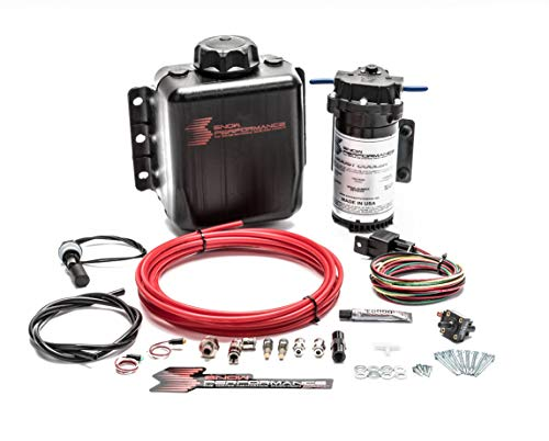 Snow Performance 201 Stage 1 Boost Cooler Forced Induction Water-Methanol Injection Kit (Red High Temp Nylon Tubing, Quick-Connect Fittings) - 1yr Warranty