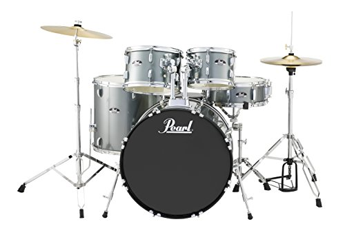 8 Piece Double Bass Shell - Pearl RS525SCC706 Roadshow 5-Piece Drum Set, Charcoal Metallic
