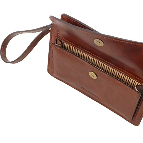 Tuscany Leather Denis - Elegante bolsillo de señor en piel - TL141445 (Negro) Negro