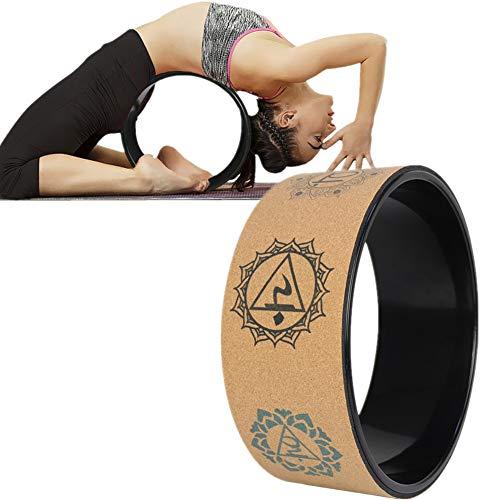WESEEDOO Yoga Rad Yogaring Yoga Rad zum Dehnen Flexibilität der Ringbiege- und Stretchwalze Fitness Yoga Rad Back Workout Pilates