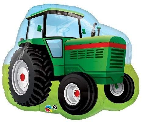 Mayflower Products 4th Birthday Farm Tractor Balloon Bouquet Decorations and Party Supplies