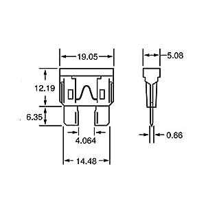 Baomain ATC-2 Grey ATO / ATC 2 Amp Fast-Acting Automotive Blade Fuses - 25 Pack
