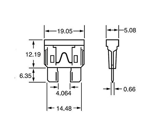 color marr/ón Fusible de cuchilla est/ándar para coche 7,5A, 50 unidades Heschen ATC-7.5