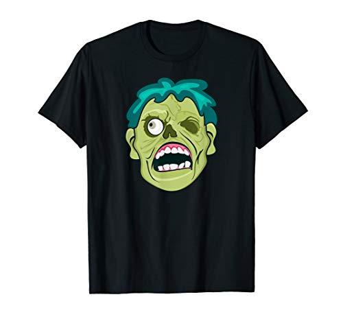 Halloween Evil Zombie Face Easy Costume Idea T-Shirt