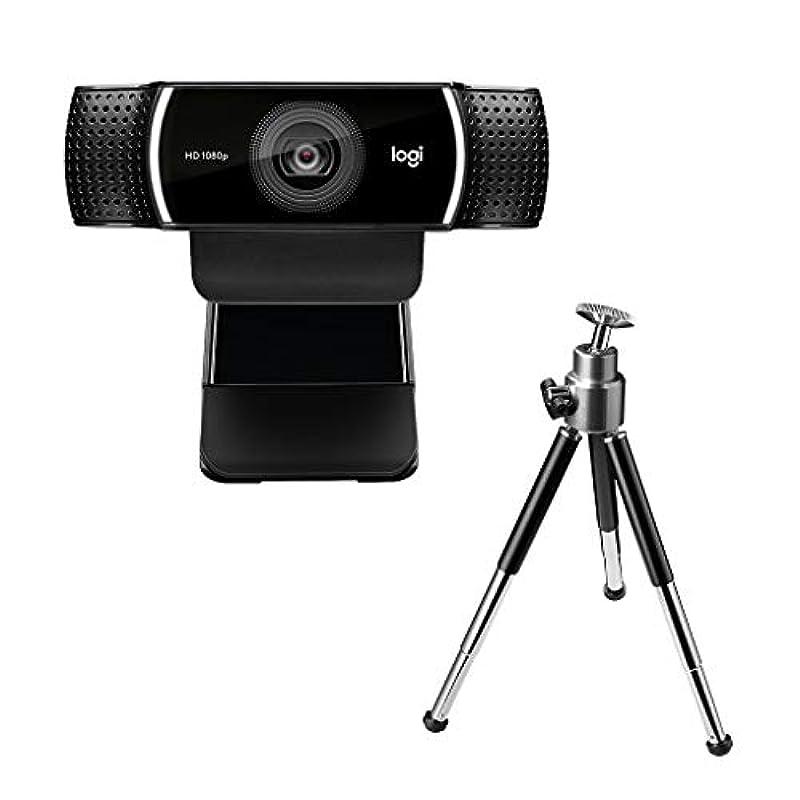 로지텍 웹캠 C922n 풀 HD 스트리밍 자동 초첨 삼각대포함