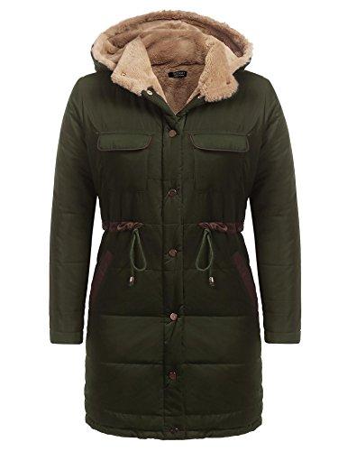 Ejercito Soteer para Mujer Verde Abrigo rqt7tcwp0x