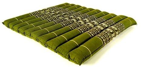 Thaikissen 50x50 Sitzkissen Kapok Thaisitzkissen Bodenkissen Zabuton Auflage