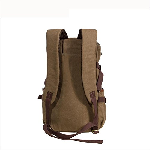 "Backpack Mochilas Capacidad 23L Canvas14 "" Mochila portátil Rucksack , Dark khaki Dark khaki"