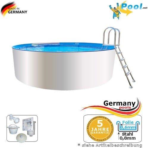 Piscina 7, 00 x 1, 50 Pool 7 m Piscina redonda Pool Acero Pared ...