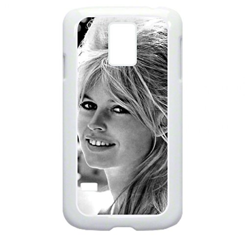 Brigitte Bardot -TM Hard White Plastic Case with Soft Black Rubber Lining for the Samsung Galaxy s5-Made in the USA!