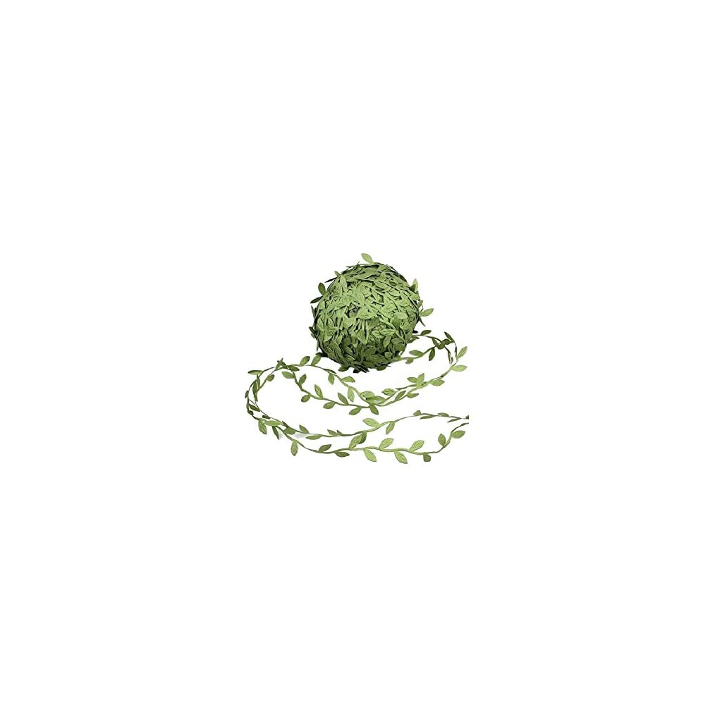 164-Ft-Artificial-Vines-Hanging-Plants-Silk-Garlands-Simulation-Foliage-Rattan-Green-Leaves-Ribbon-Wreath-Accessory-Wedding-Wall-Crafts-Party-Dcor-Green