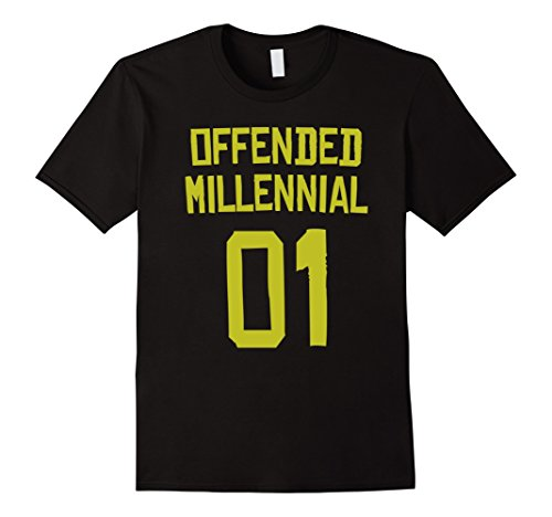 Last Minute Sports Halloween Costumes (Mens Offended Millennial - Sports Halloween Costume Shirt Small Black)