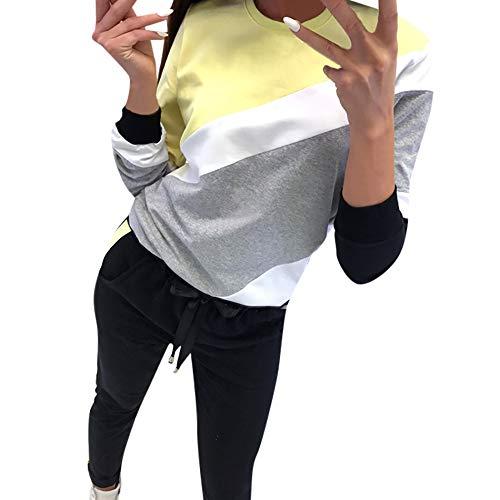 [S-XL] レディース Tシャツ 秋 冬 丸首 カラーマッチング 長袖 トップス クリアランスセール ホットセール 割引 プロモーション おしゃれ ゆったり カジュアル 人気 快適 薄手 ナイトクラブ パーティー 通勤 通学 可愛い