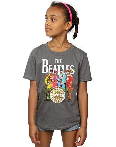 - The Beatles Girls SGT Pepper T-Shirt Charcoal 9-11 Years