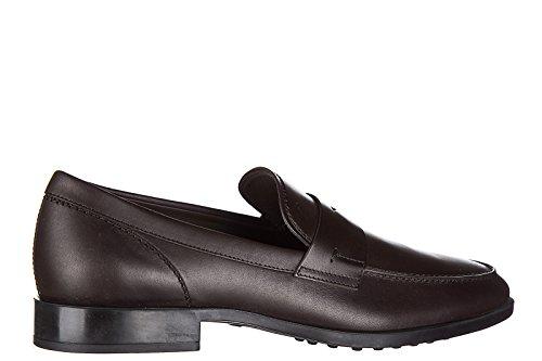 Tod's mocasines en piel hombres nuevo caucho vg marrón