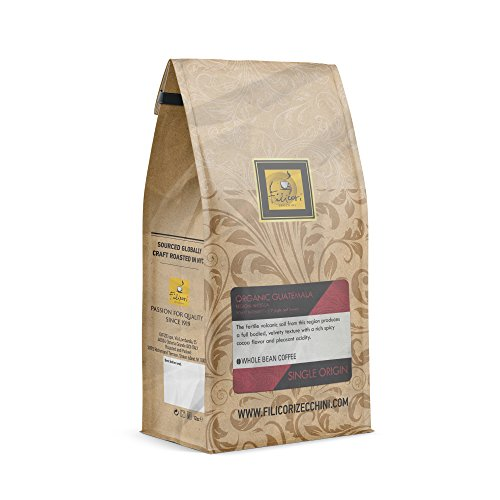 Filicori Zecchini - Whole Beans Coffee - Single Origin - Organic Guatemala - Region: Antigua - Light and Sweet - 12oz Bag by Filicori Zecchini