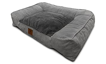 American Kennel Club Memory Foam Sofa Pet Bed, X Large, Gray
