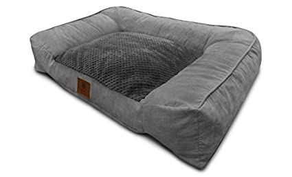 Amazon Com American Kennel Club Akc 1882 Gray Memory Foam Pet Sofa