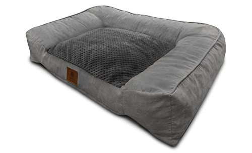 American Kennel Club Memory Foam Extra Large Pet Sofa Dog Bed, Gray