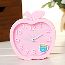 Alarm clock, Desktop Clock Apple Fashion Alarm Clock For kids Girls Adult pink
