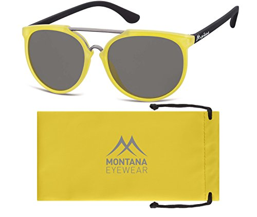 Adulto Unisex Smoked Sol Gafas de Yellow Lenses Montana Multicolor agtIwq1