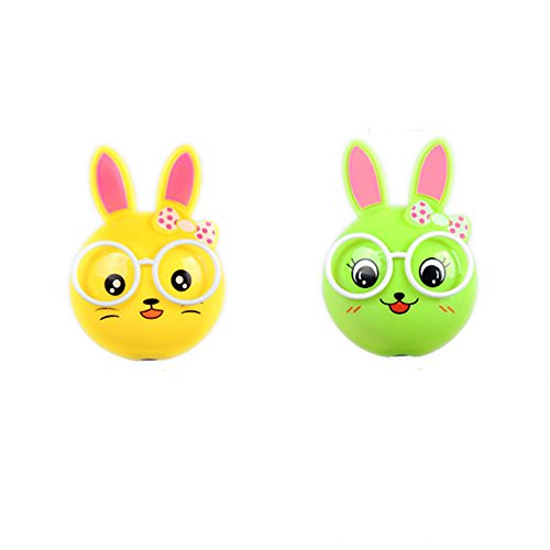 2 PCS Rabbit LED Plug in Night Light for Kids- Wall Lamp Take Good Care Children Sleep Light Sensor Auto Controlled Nightlights for Baby Nursing (Yellow+Green-2) Review