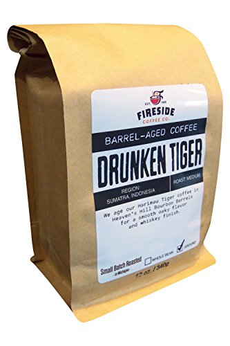 Bourbon Barrel Beer - Barrel Aged Ground Coffee - Aged in Whiskey, Wine, and Beer Barrels - 12 Oz. Bag (Drunken Tiger)