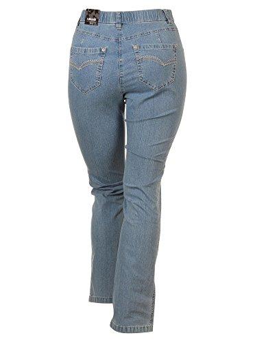 Jeans Betty CS Straight Leg in hellblau in Übergrößen (44K) von KJ Brand