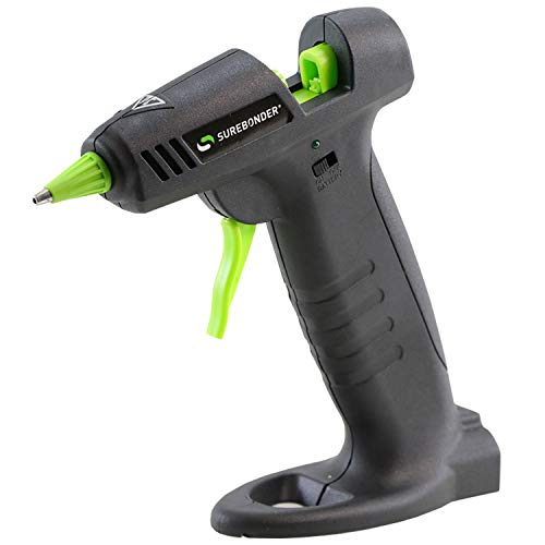 Surebonder Hybrid-20F Mini Cordless/Corded High Temperature Glue Gun-for Cordless Use The Gun Requires 4 AA Batteries (not - Glue Rechargeable Gun Cordless