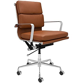eames ribbed chair tan office laura davidson furniture soho soft pad management chair brown amazoncom ribbed office orange kitchen