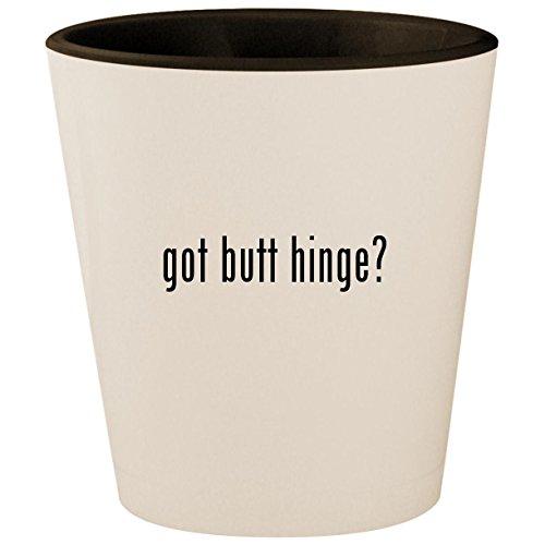 got butt hinge? - White Outer & Black Inner Ceramic 1.5oz Shot Glass