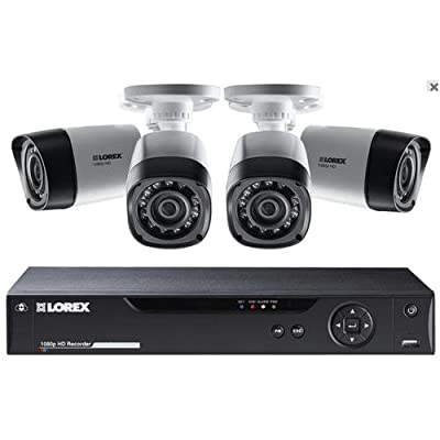 Lorex LHD84W, 8 Channel HD MPX DVR with 1TB HDD, 4 1080p Cameras with 130FT Night Vision