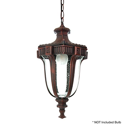 (eTopLighting Le Eclairage Collection Terra-cotta Finish Exterior Outdoor Lantern Light Frost Glass, Pendant APL1098)