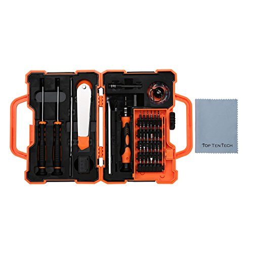 LEKATYS™ Screwdriver Set, 45 in 1 Repair Maintenance Kit Tools,Hardware Tool kit for iPhone, iPad, Samsung Smartphone,Tablet PC, and other Electronic Devices - Reading Glasses Recycle