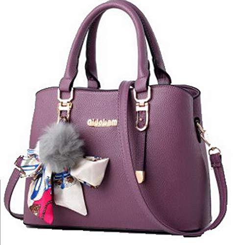 Donna GMMBA181746 Shopping Viola AgooLar Borse Viola Dacron Scuro tracolla Tote Festa scuro a Style Awdqdfg