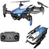 Cinhent Quadcopter, X12 Drone 720P Wide Angle Camera WiFi FPV 2.4G One Key Return Helicopter, 8.3 × 6.9 × 2.7 Inch, RC Flying Toy for Toddlers Adults Gift, Beginners Indoor Outdoor Play 2018 (Blue)