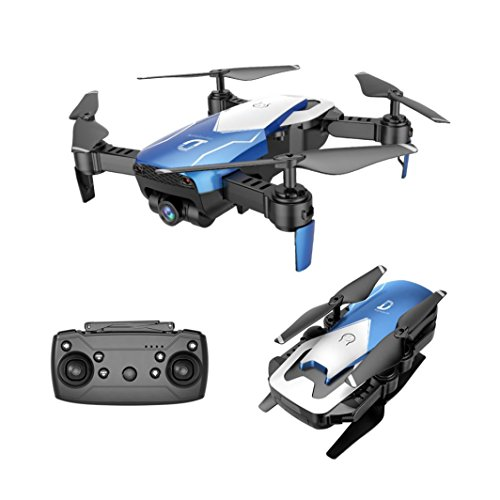 Controlled Helicopter Radio Black (Cinhent Quadcopter, X12 Drone 720P Wide Angle Camera WiFi FPV 2.4G One Key Return Helicopter, 8.3 × 6.9 × 2.7 Inch, RC Flying Toy for Toddlers Adults Gift, Beginners Indoor Outdoor Play 2018 (Blue))