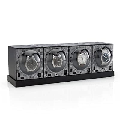 Set of 4 Brick Watch Winders with Power Base